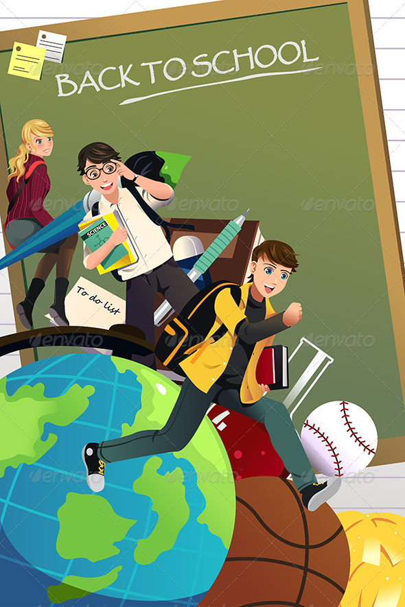 GraphicRiver Back to School Background 8620593