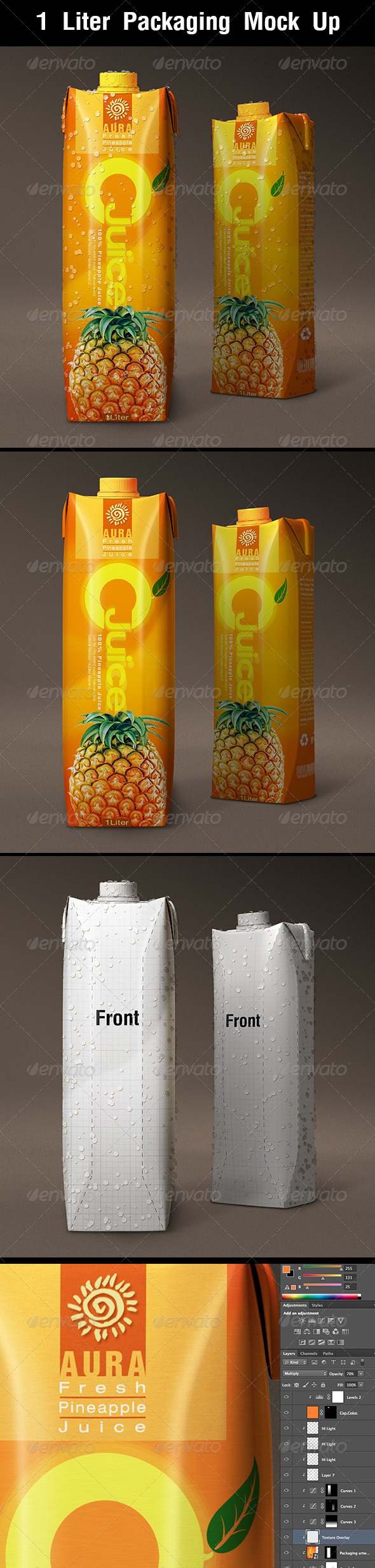 GraphicRiver 1 Liter Carton Packaging Mock Up 8620647