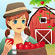 Woman Carrying a Basket of Fruit - GraphicRiver Item for Sale