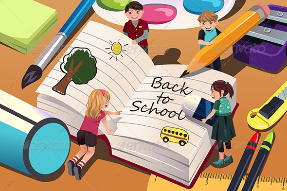 GraphicRiver Back to School Background 8620669