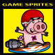 Side Scrolling Game Character: Rocket Skater Pig - GraphicRiver Item for Sale