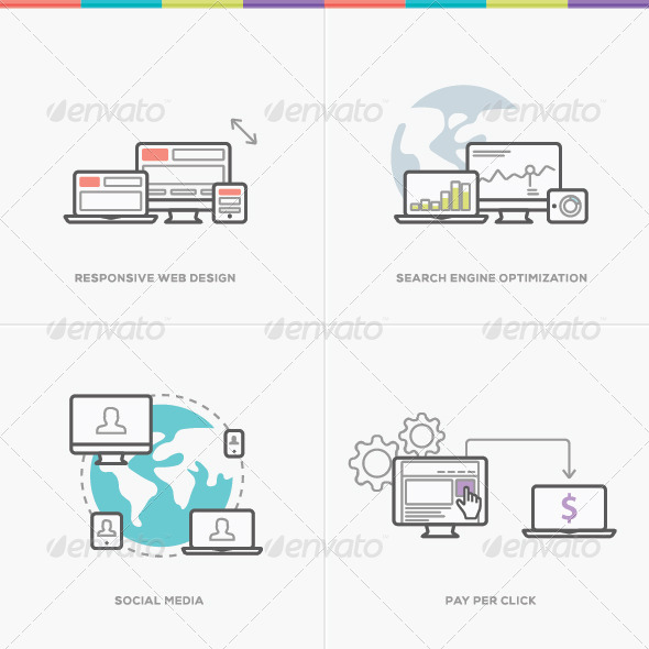 GraphicRiver Flat Web Development Vector Concepts 8592306