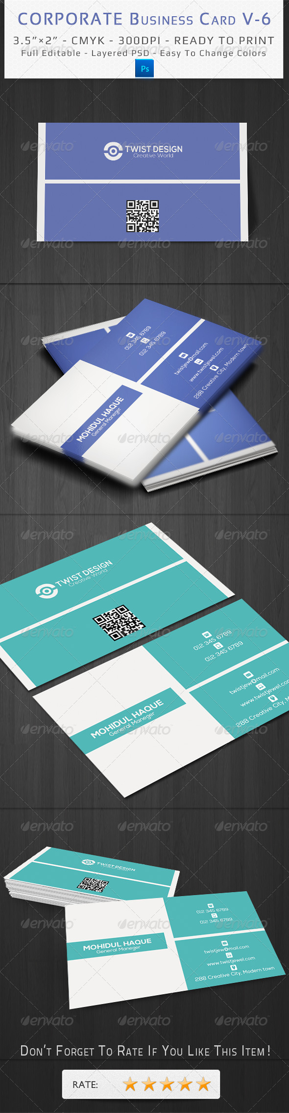 GraphicRiver Corporate Business Card V-6 8620992