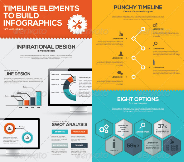 GraphicRiver Timeline Infographic Business Vector Set 8603827