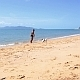 Man and Cute Dog Playing on Seacoast - VideoHive Item for Sale