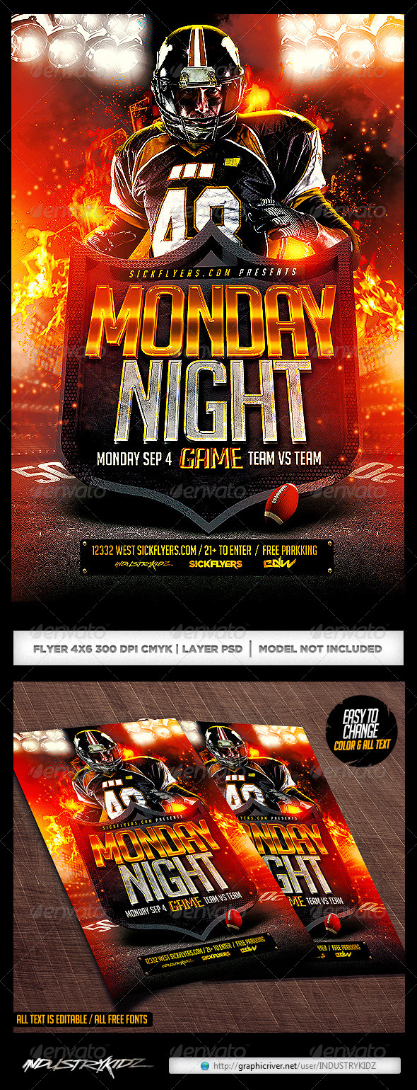 GraphicRiver Football Game Flyer Template 8621084