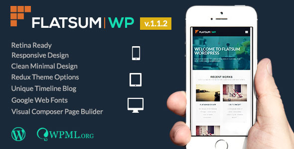 FlatSum - Minimal Multipurpose WordPress Theme