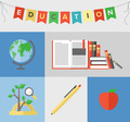 Education flat illustration concept - PhotoDune Item for Sale