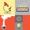 Science research and chemistry flat illustration - PhotoDune Item for Sale
