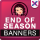 End of Season Banners - GraphicRiver Item for Sale
