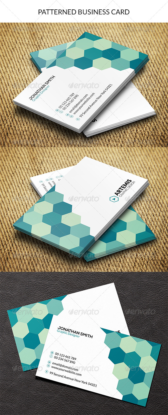 GraphicRiver Patterned Business Card 8621432