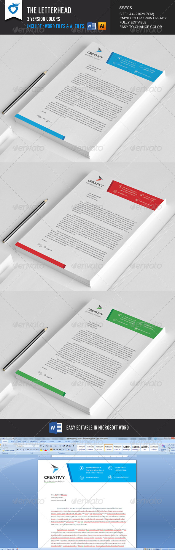 GraphicRiver The Letterhead 8621502