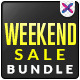 Weekend Sale Banner Bundle - 4 Sets - GraphicRiver Item for Sale