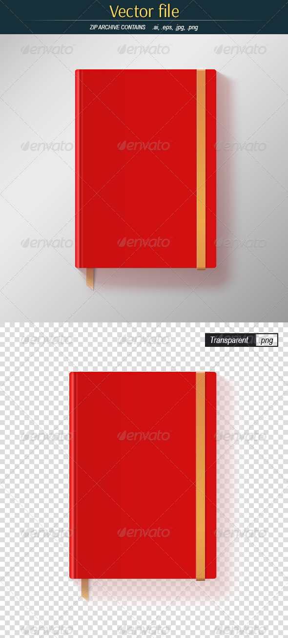 GraphicRiver Red Notebook 8621511
