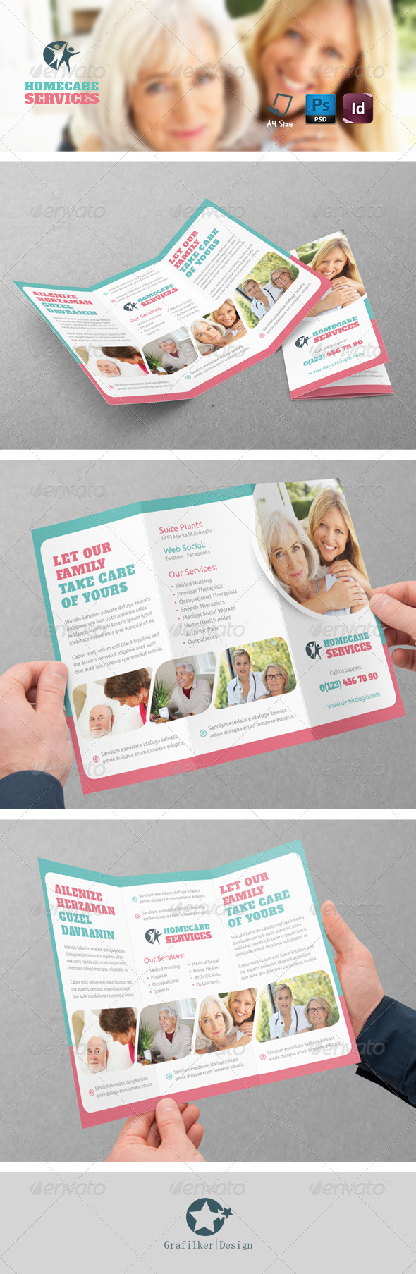 GraphicRiver Home Care Tri-Fold Templates 8621558