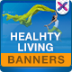 Health & Life Style Banners - GraphicRiver Item for Sale