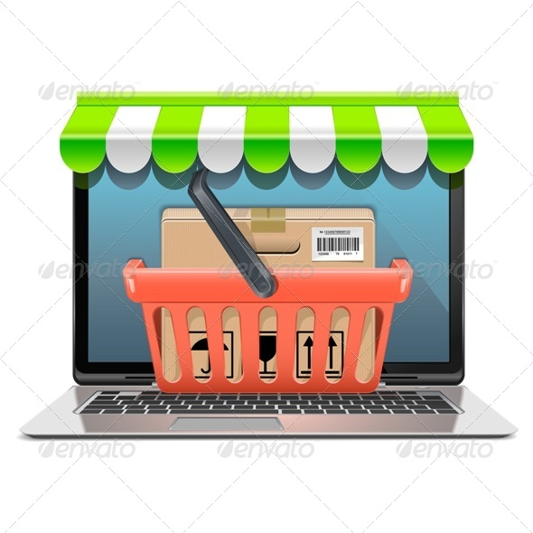 GraphicRiver Vector Computer Shopping Concept 8621701
