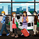 Group of Young People Traveling Together - GraphicRiver Item for Sale