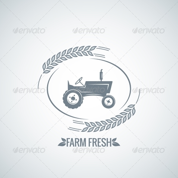 GraphicRiver Farm Fresh Tractor Background 8621771