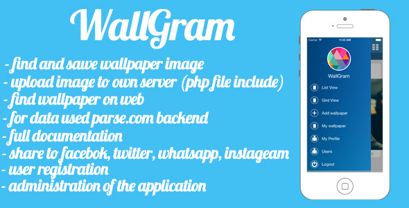 CodeCanyon WallGram social wallpaper network 8621774