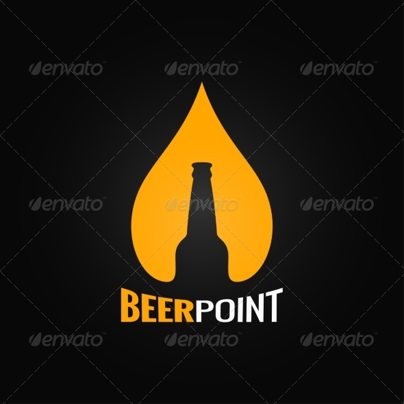 GraphicRiver Beer Bottle Drop Design 8621777