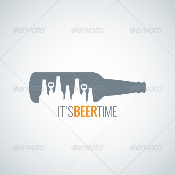 GraphicRiver Beer Bottle City Design Background 8621781
