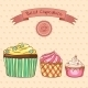 Beautiful Card Best Cupcakes - GraphicRiver Item for Sale