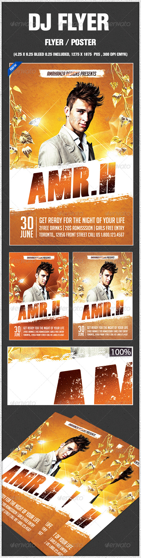 GraphicRiver Dj Flyer Template 8622364