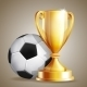 Gold Cup with a Football - GraphicRiver Item for Sale