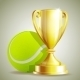 Golden Trophy Cup with a Tennis Ball - GraphicRiver Item for Sale