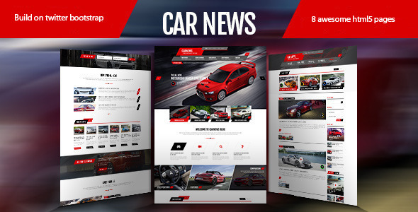 ThemeForest Car News HTML for Car Website 8613635