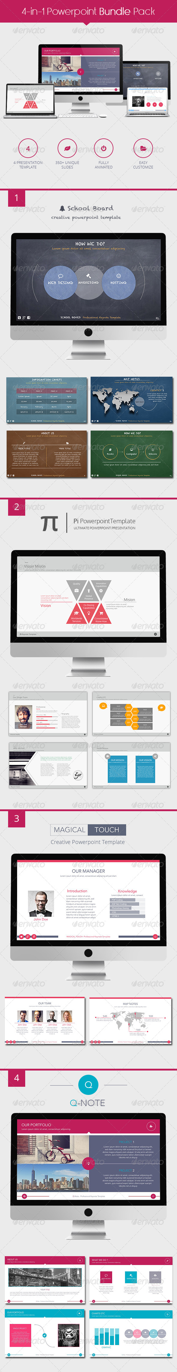 GraphicRiver 4in1 Powerpoint Bundle 8622594