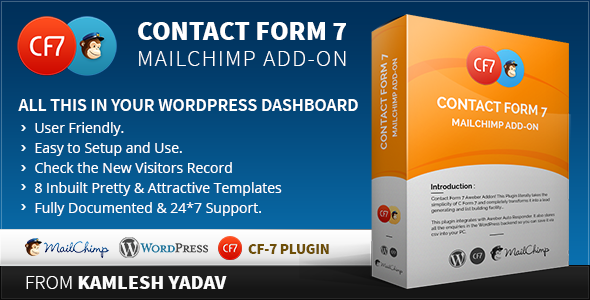 CodeCanyon Contact form 7 Mailchimp Add-on 8622597