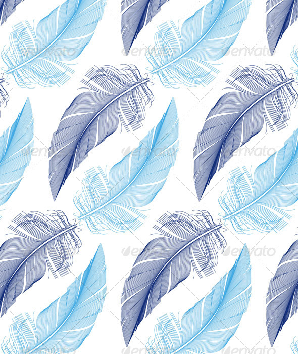 GraphicRiver Feather Seamless Pattern Vector 8622740