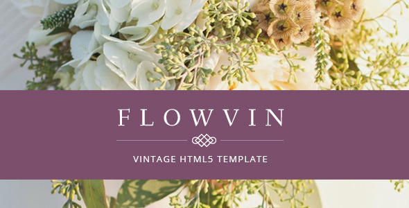 ThemeForest FlowVin One Page Vintage HTML5 template 8622961