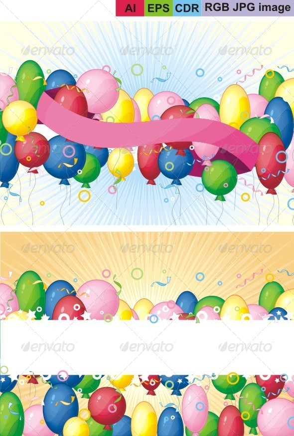 GraphicRiver Balloons Background 8623150