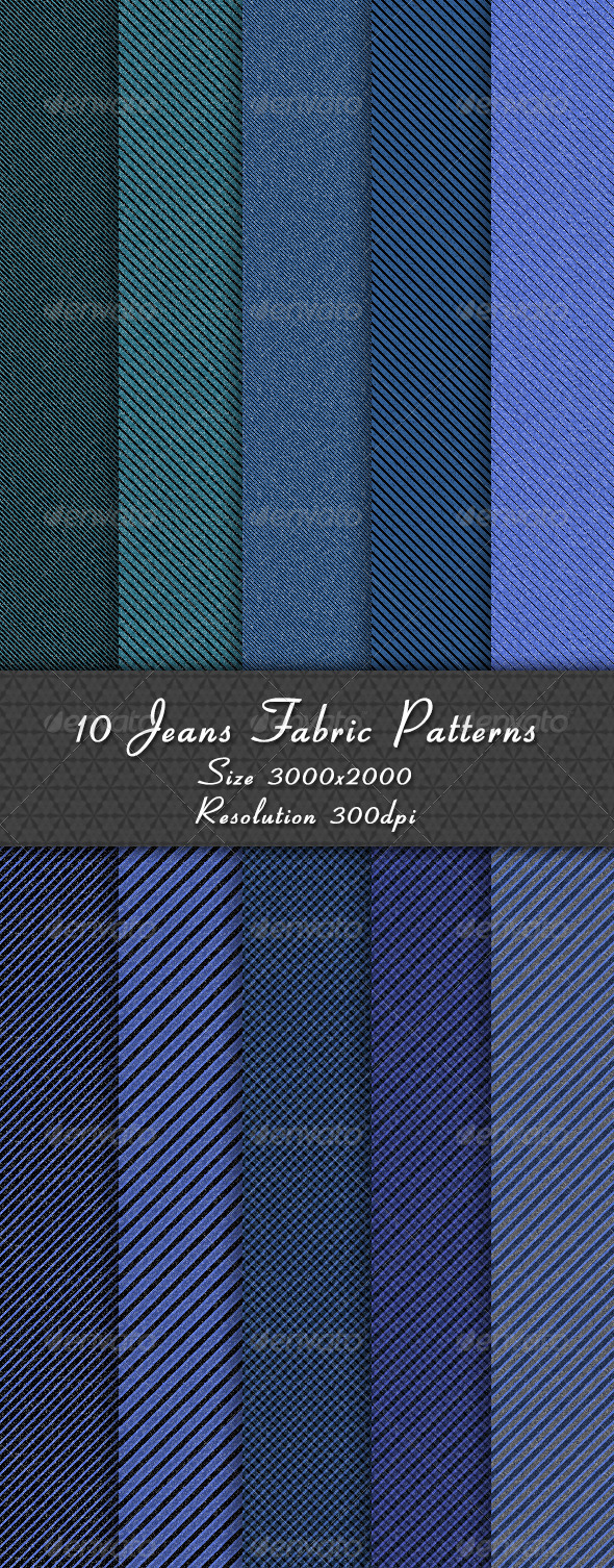 GraphicRiver 10 Jeans Fabric Patterns 8623500