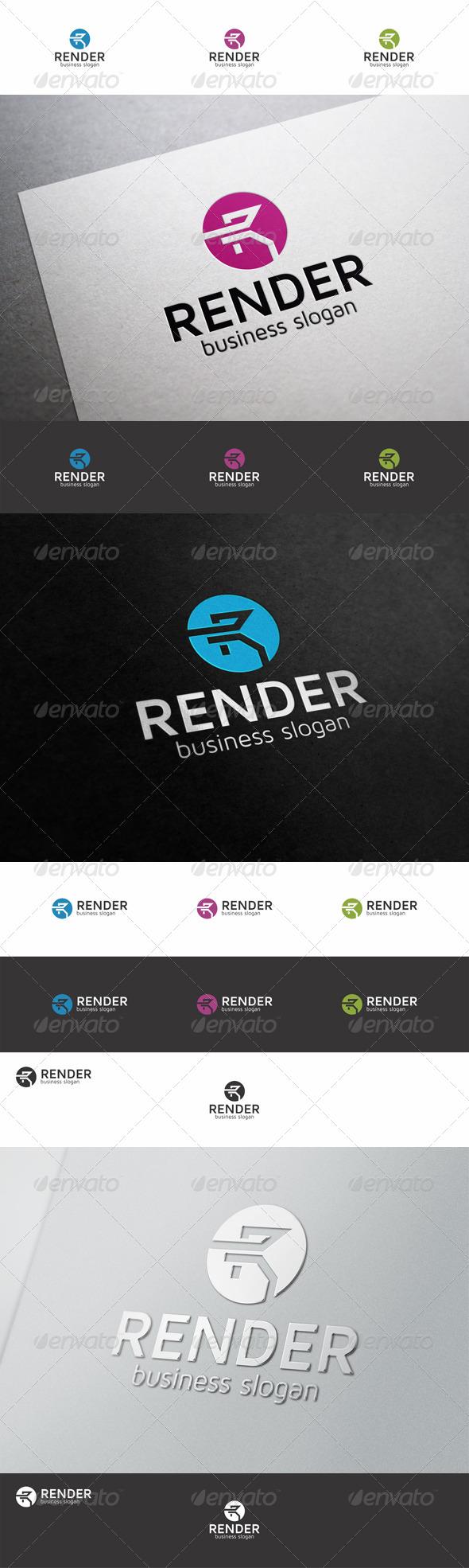 GraphicRiver Render R Logo Letter 8624096