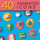 40 Flat Animated Icons - VideoHive Item for Sale
