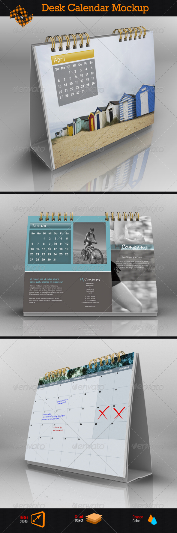 GraphicRiver Landscape Desk Calendar Mock Up 8624374