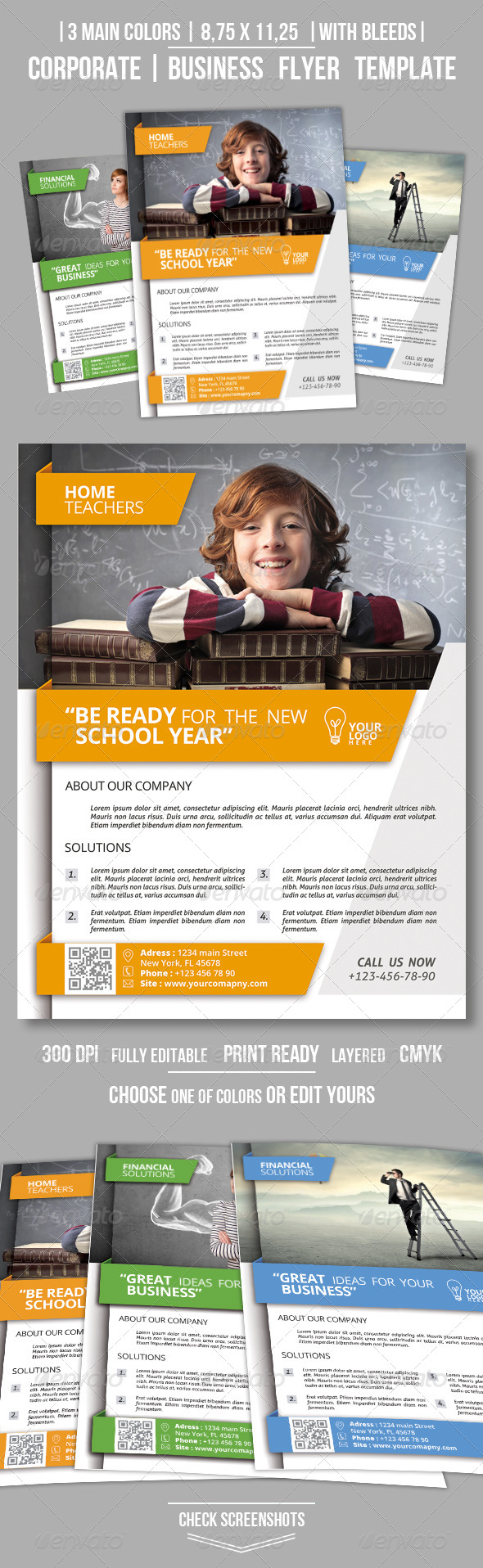 GraphicRiver Clean Corporate Business Flyer 8624380