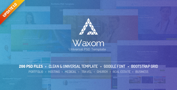 Waxom - Clean & Universal PSD Template - Creative PSD Templates