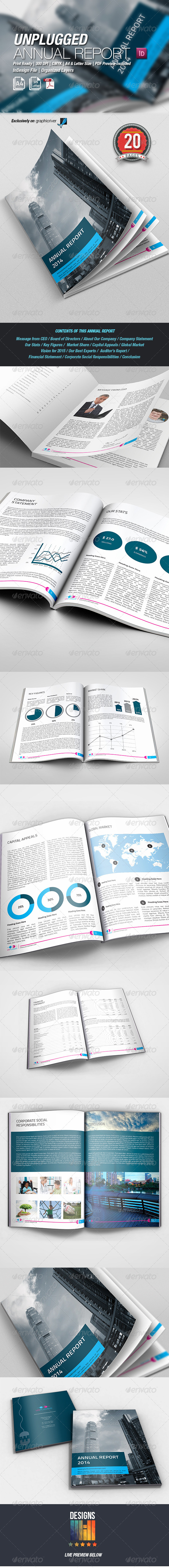 GraphicRiver UnPlugged Annual Report 8624587