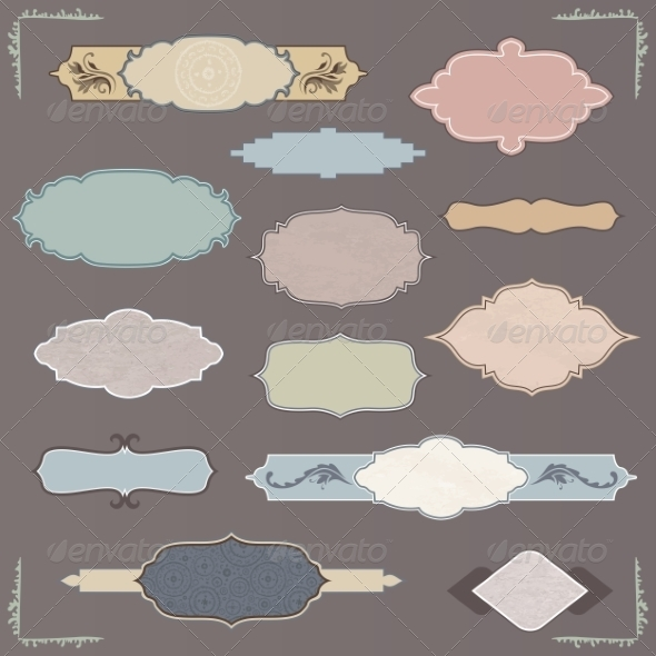 GraphicRiver Vintage Vector Labels Set 8624603