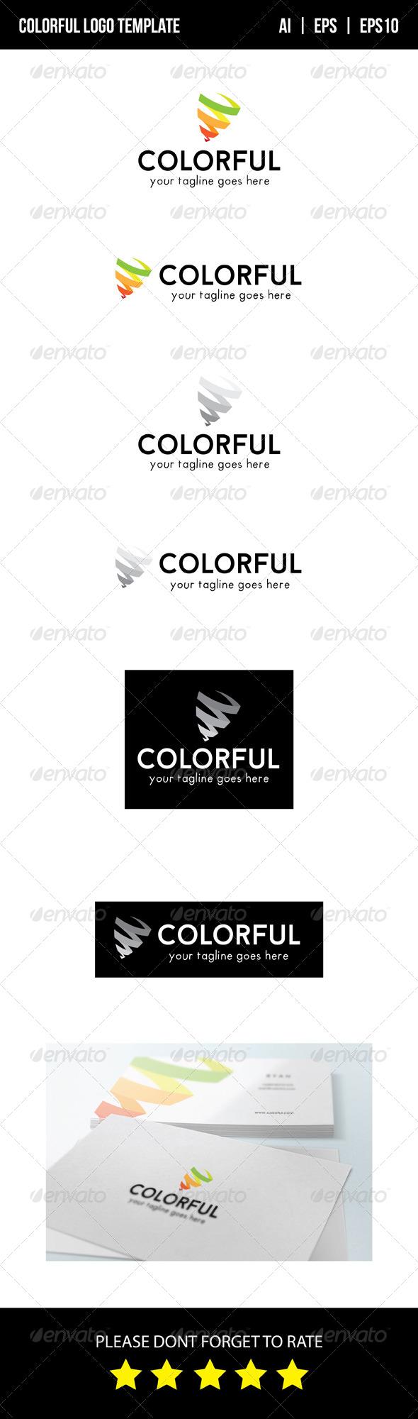 GraphicRiver Colorful Logo Template 8624610