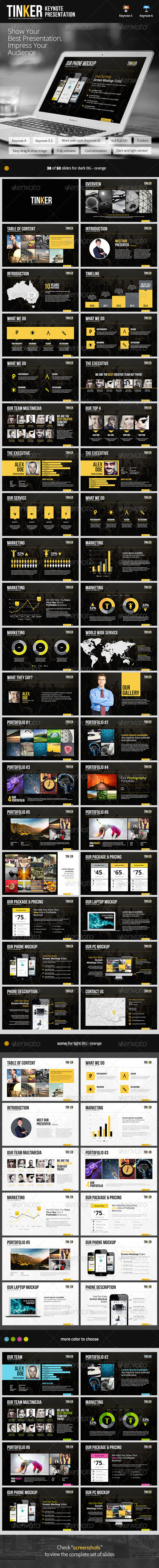 GraphicRiver TINKER Keynote Template 8624727