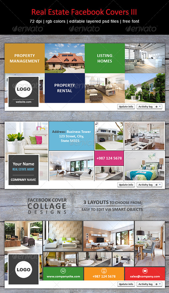 GraphicRiver Real Estate Facebook Covers III 8624781