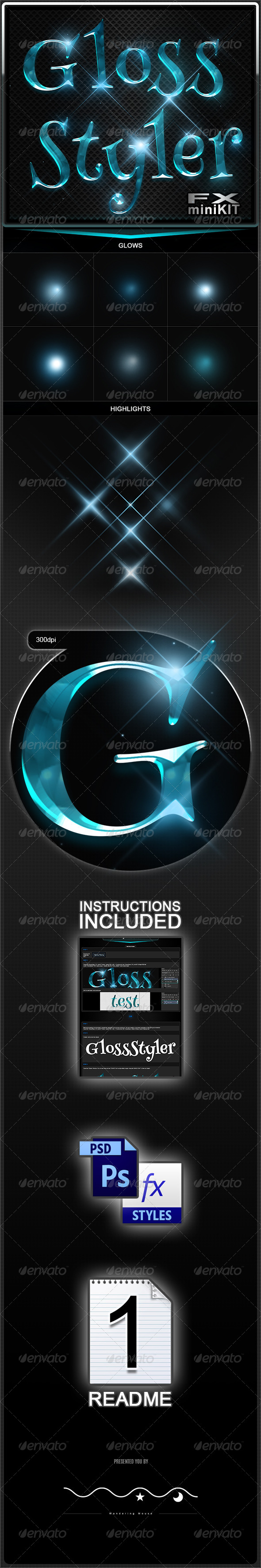 GraphicRiver GlossStyler FX miniKIT 8624952