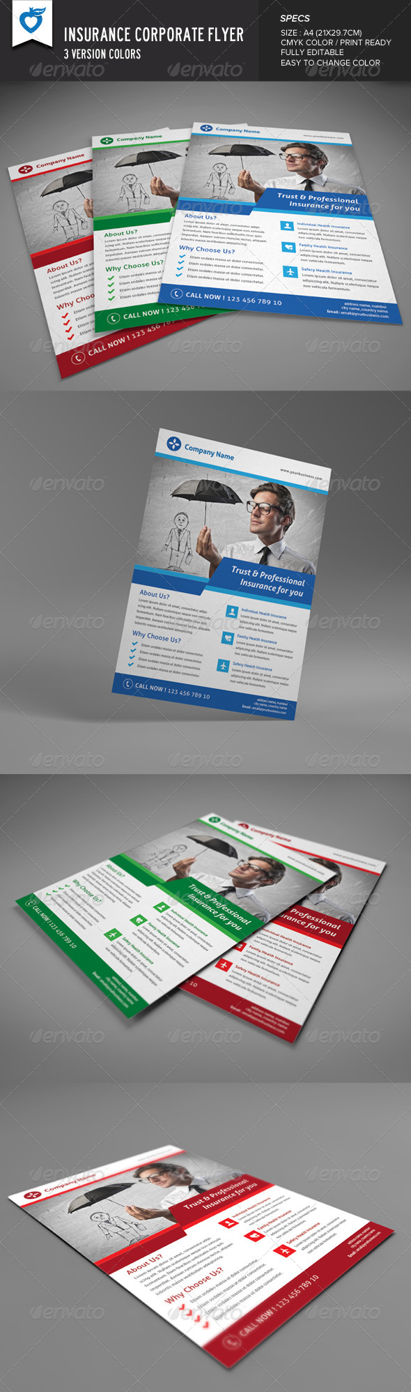 GraphicRiver Insurance Corporate Flyer 8625013
