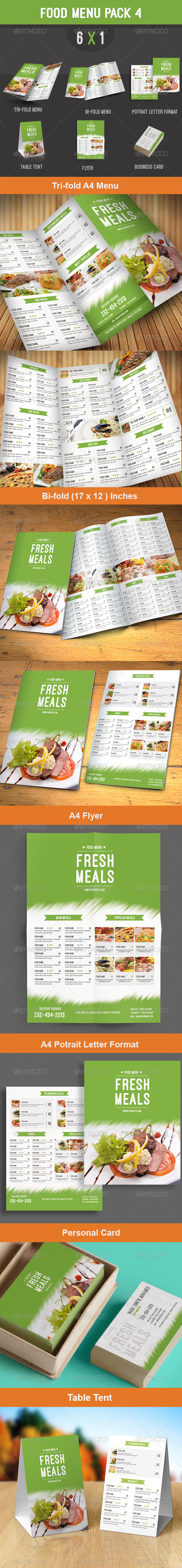 GraphicRiver Food Menu Pack 4 8625030
